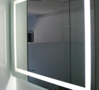 Espejo retroiluminado